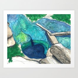 Jacob's Well Art Print