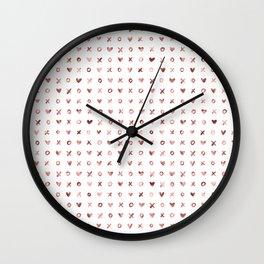 XOXO Love Me Rose Gold Pattern 2 Wall Clock