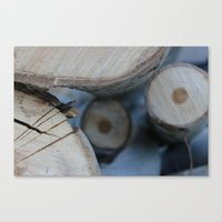 wooden Canvas Prints featuring Wooden by Tania Olby