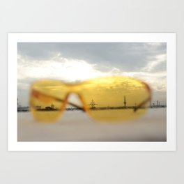 Through the lens Art Print