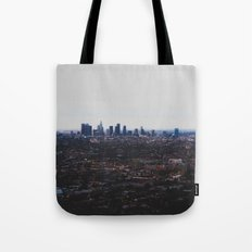 Los Angeles in fog Tote Bag