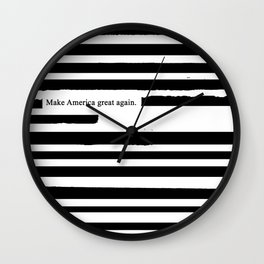 Alternative Facts Wall Clock
