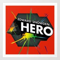 Edward Snowden Prism Hero Art Print