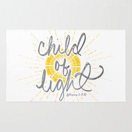 "EPHESIANS 5:8-10 ""CHILD OF LIGHT"" Rug"