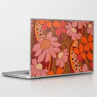 50s Laptop & iPad Skins featuring Crazy pinks 50s Flower  by Follow The White Rabbit