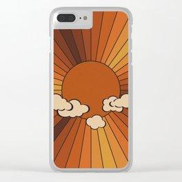 Retro Sunshine Clear iPhone Case