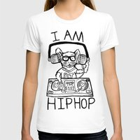hiphop T-shirts featuring I AM HIPHOP  by Geryes