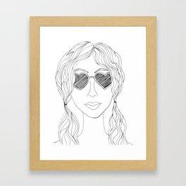 Through Heart Shaped Glasses Framed Art Print