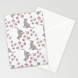 Visiting the Flowers Pattern Stationery Cards
