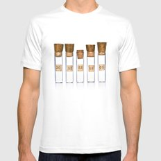 Lab Vials Mens Fitted Tee White MEDIUM