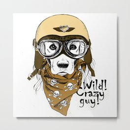 Wild! Crazy Guy Metal Print