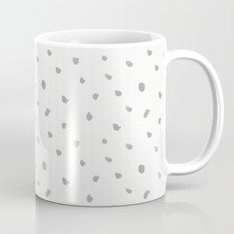 Geometrical gray white watercolor polka dots pattern Coffee Mug