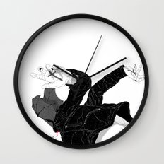 Cough it Up Wall Clock