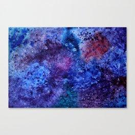 Watercolor space Canvas Print