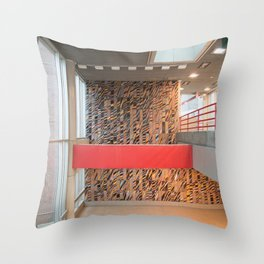 Detroit People Mover Art Broadway Throw Pillow