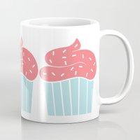 cupcake Mugs featuring Cupcake by Elaine Stephenson Art