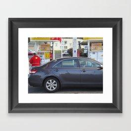 Full Service Station- Oregon Framed Art Print
