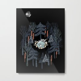 fairytale night forest Metal Print