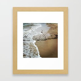 Beach Barrier Framed Art Print