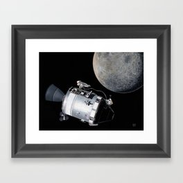 Falling to Earth Framed Art Print