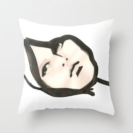 Ink face Throw Pillow