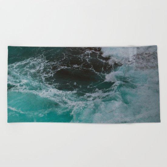 Big Sur Waves Beach Towel