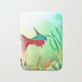 Underwater World **just keep swimming Bath Mat