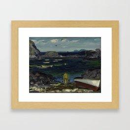 The Harbor Monhegan Coast Maine 1913 Framed Art Print