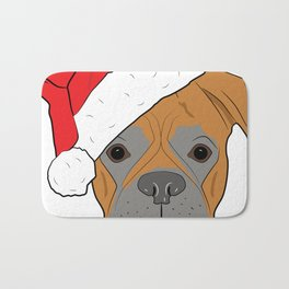 Christmas Festive Boxer dog Bath Mat