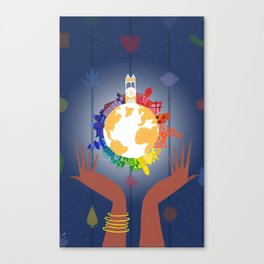 It's A Small World In Your Hands Canvas Print