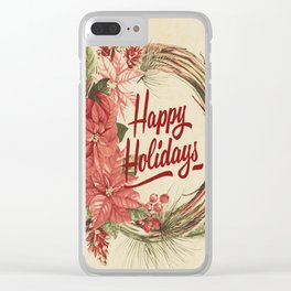 Vintage Christmas 29 Clear iPhone Case