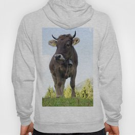 Cow on the pasture Hoody