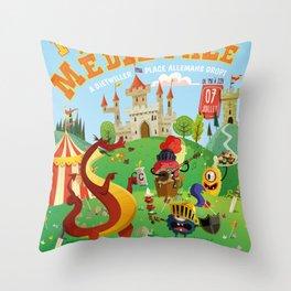 Medieval festival Throw Pillow