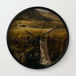 Faroe Islands Falls Wall Clock