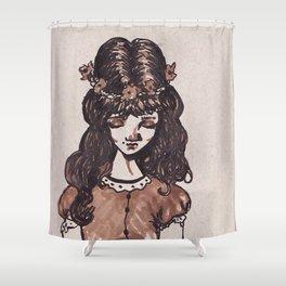 Pub Girl Shower Curtain