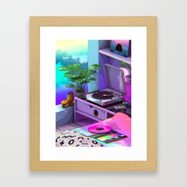 Vaporwave Aesthetic Framed Art Print