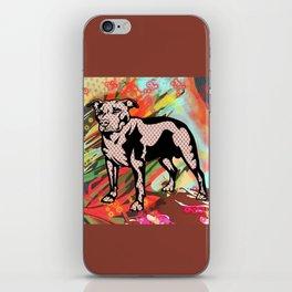 Super dog pop art iPhone Skin