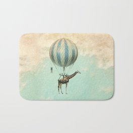 Sticking your neck out, giraffe Bath Mat