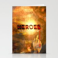 heroes Stationery Cards featuring HEROES by Michael Scott Murphy