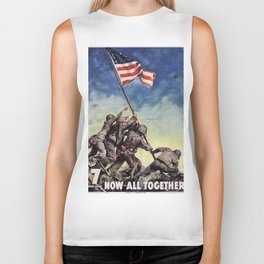 Raising the Flag on Iwo Jima Biker Tank