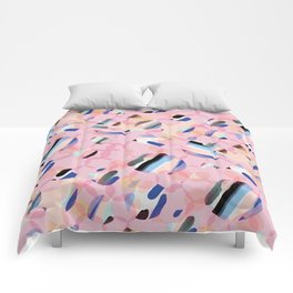 Pink Abstract Platelet #expresive #pink Comforters