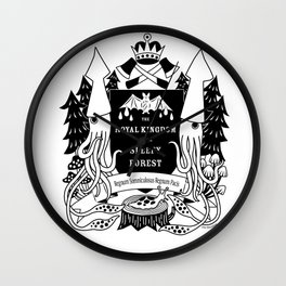 The Royal Kingdom of the Sleepy Forest Wall Clock