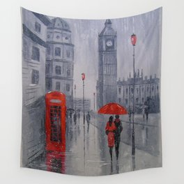 In London it was snowing Wall Tapestry