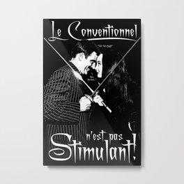 Le Conventionnel n'est pas Stimulant (Gomez & Morticia) Metal Print