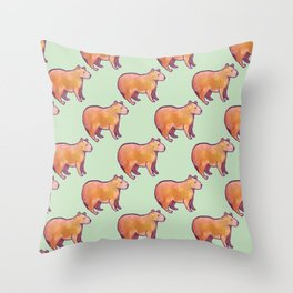 Capybara Pattern Throw Pillow