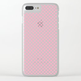 Pink Polka Dots Clear iPhone Case