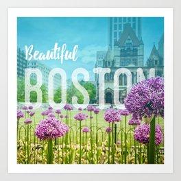 Boston Cityscape - Copley Square Art Print