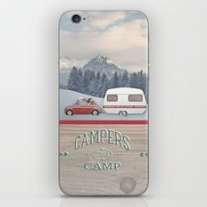 NEVER STOP EXPLORING - CAMPERS GONNA CAMP iPhone Skin