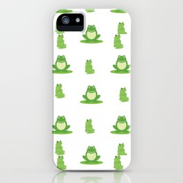 funny frog iPhone Case