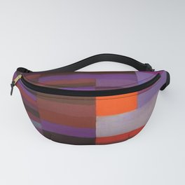 Paul Klee Fire In The Evening Colorful Abstract Art Fanny Pack
